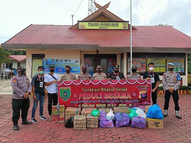 Giliran Warga Mengkatip Bantu Korban Banjir Kalsel
