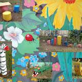 Оксана. Этот двор на улице Рабоче-Крестьянской, 24 ещё 2 месяца назад был неухожен, но жильцы-энтузиасты приняли решение превратить его в сказку. Сами раскрасили стену и соорудили забавных зверюшек. Также скоро появятся изготовленные из пластиковых бутылок цветы и пальма!