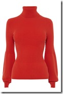 Karen Millen red bell sleeved roll neck
