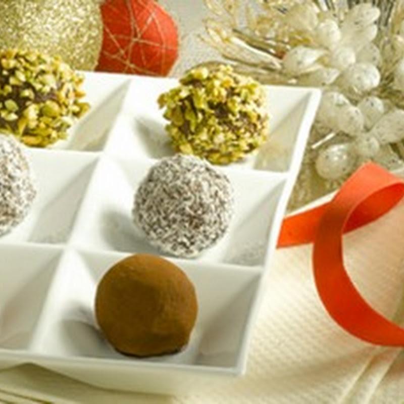 Dessert di Natale: sfiziose palline di cioccolato.