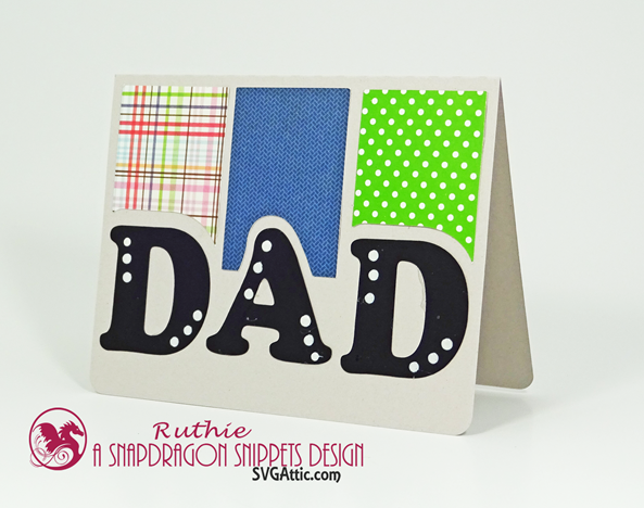 Happy Father's Day Card - SnapDragon Snippets - Dad trio A6 card - Ruthie Lopez. 3