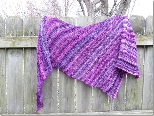 Arlequin Shawl, Free knitting shawl/scarf pattern link