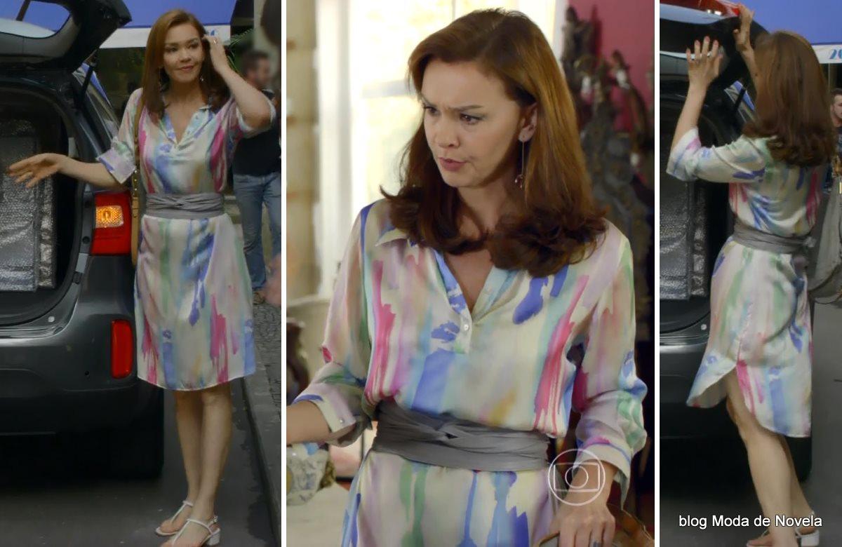 moda da novela Em Família - looks da Helena dia 4 de julho