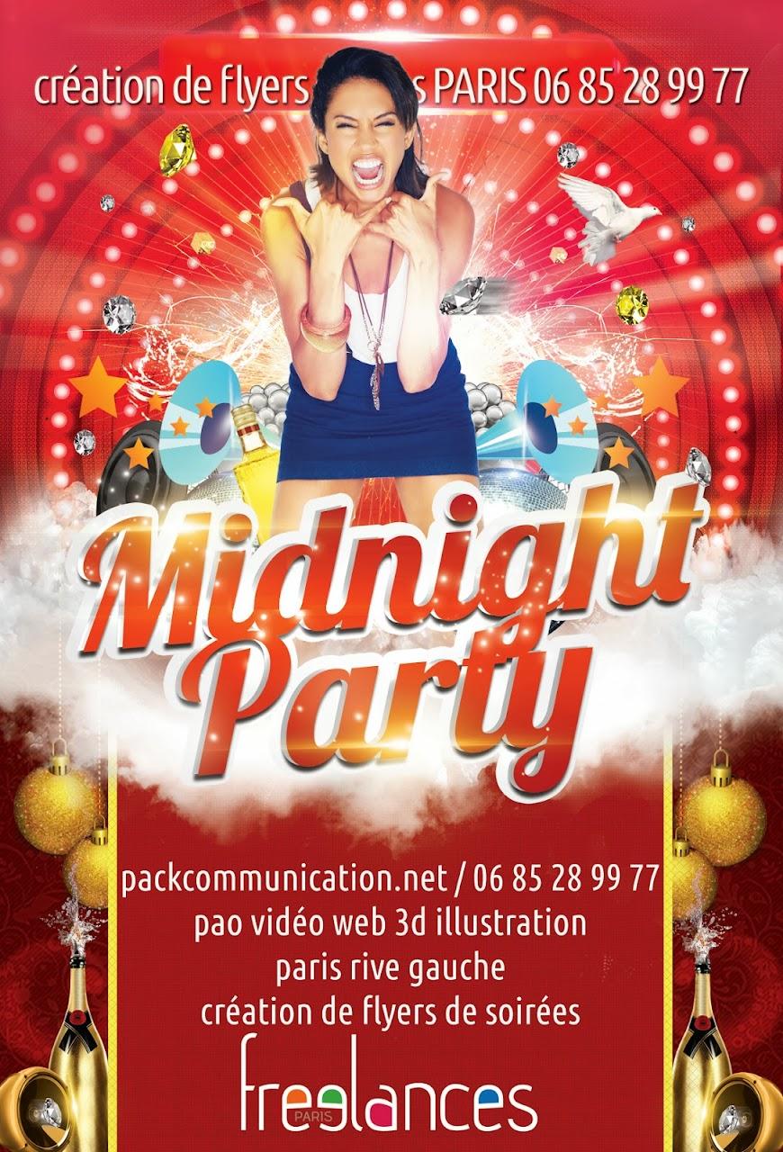 flyer soirée thème MidNight Party