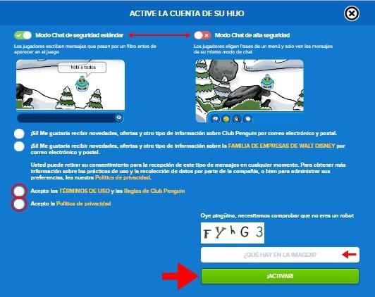 Abrir cuenta Club Penguin - 578