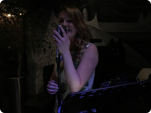 Meg Lee performs at The Cheshire   Cat