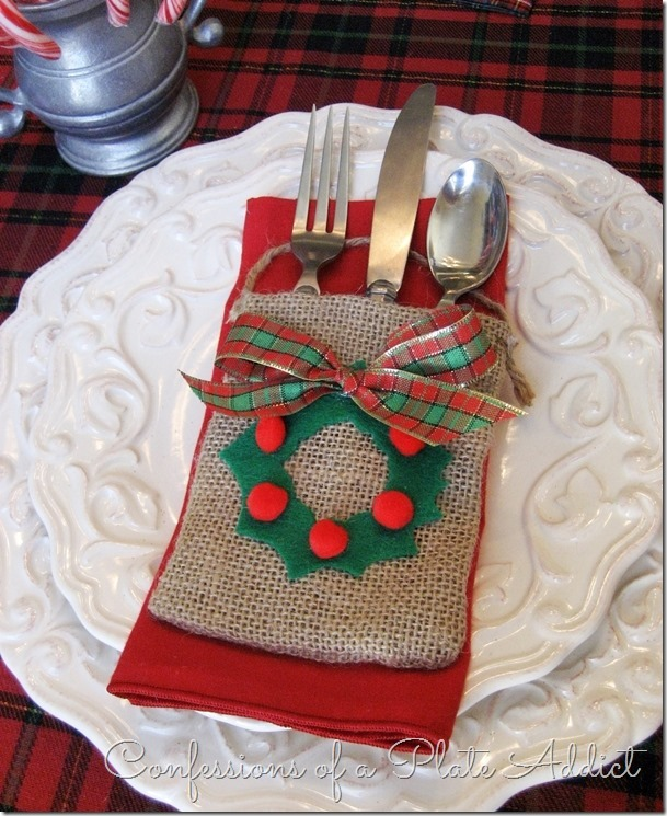 CONFESSIONS OF A PLATE ADDICT 3 in 1 Easy Christmas No-Sew Utensil Pocket