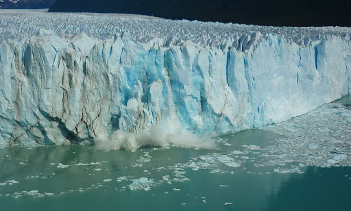 Ice the size of a house breaking off the main glacier