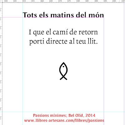 Matins del món; Passions mínimes, Bel Olid 2014
