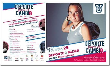"""Semana """"Deporte para el Cambio"""" en la UFV. El pádel protagonista en esta II edición."""