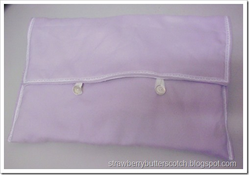 Purple Laptop Case with Lace