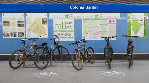 Calles recomendadas para llegar en bici a la estación de Metro de Colonia Jardín