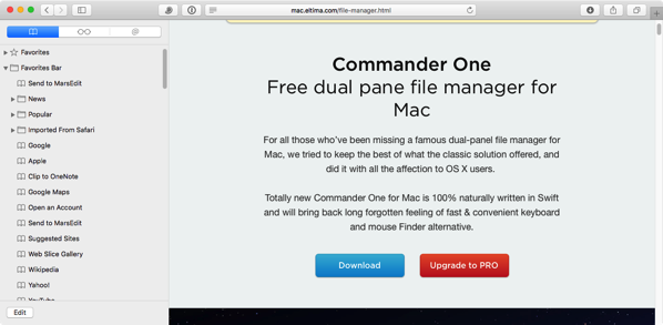 Commander One download Page