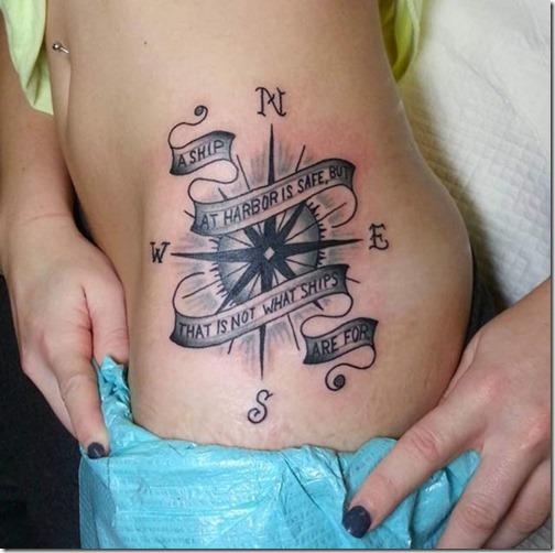 Friggin Increible Brujula Tatuajes Tatuajes247