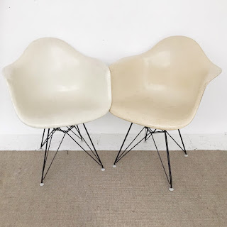 Eames + Herman Miller 1959 Fiberglass Shell Chair Pair #1