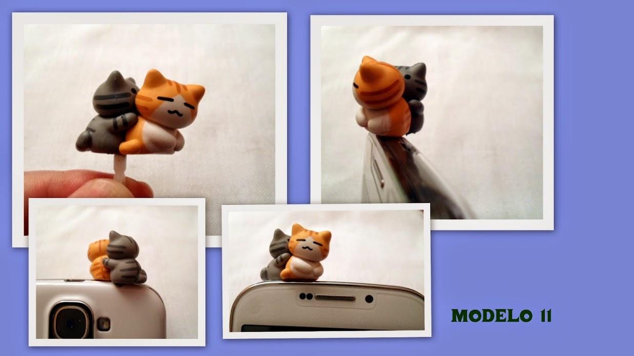 Tapones anti-polvo gatunos para el móvil 100PHOTO11
