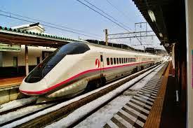 Tàu điện E3 Series Akita Shinkansen trong thực tế