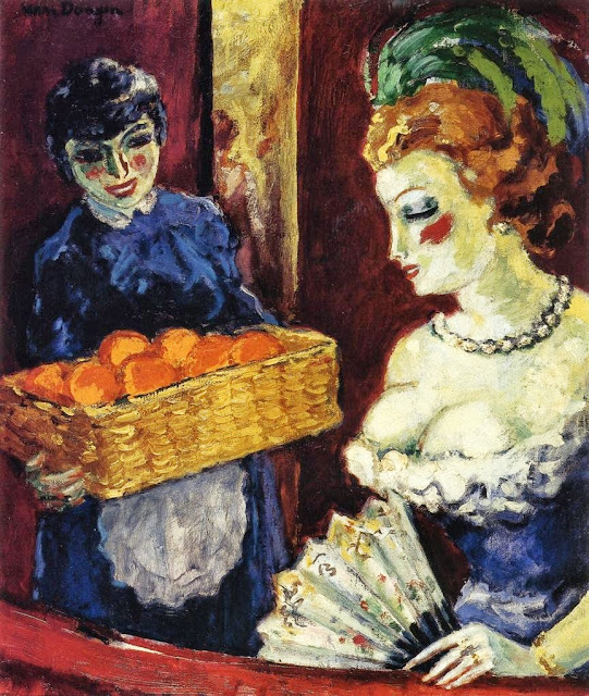 Kees Van Dongen - Woman and Orange Vendor.