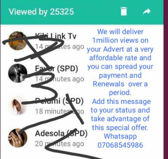 Earn 50k-70k Monthly Posting On WhatsApp Status,Page,FbStory See Note