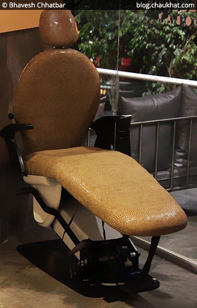 Dental chair at SocialClinic Restobar located at Koregaon Park in Pune