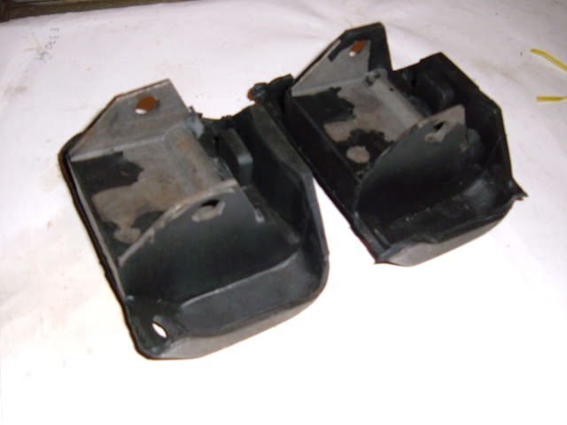 1964-1967 300 engine mounts, 64 cars must use 65-67 frame brackets. 38.00 for pair.