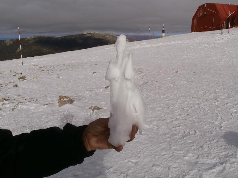 Figurita de hielo natural