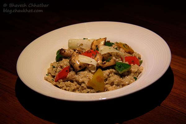La Fungi Risotto with White Wine, served at Toss Sports Lounge Koregaon Park
