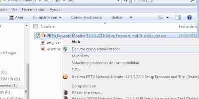 Descargar e instalar de PRTG Network Monitor