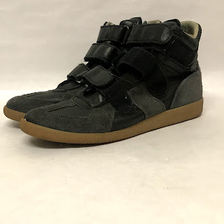 Maison Martin Margiela Replica Black and Gray Sneakers
