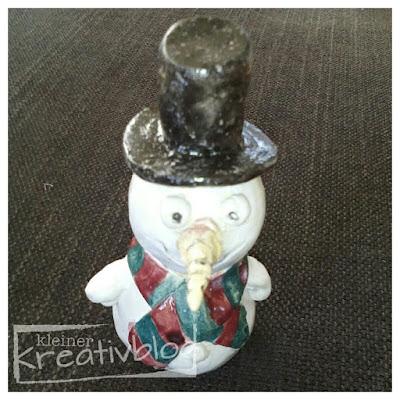 kleiner-kreativblog: Der Schneemann ist fertig!