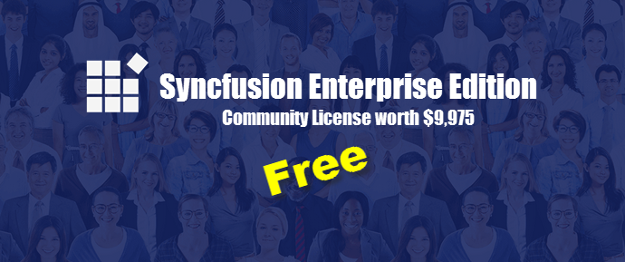 Syncfusion Enterprise Edition (Community License), www.kunal-chowdhury.com
