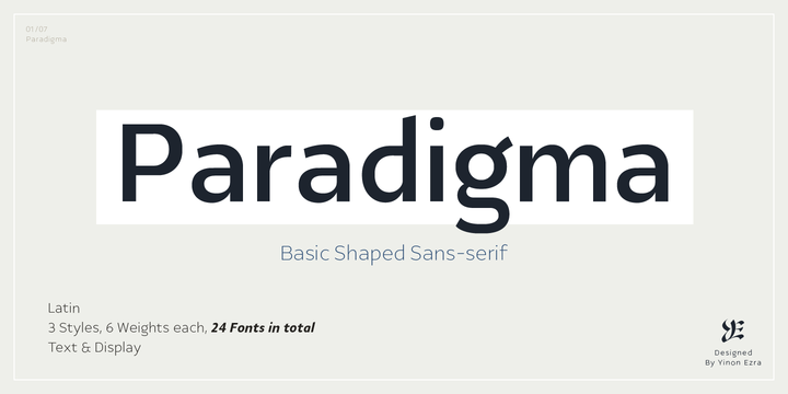 Download Ye Paradigma Font Family From Yinon Ezra