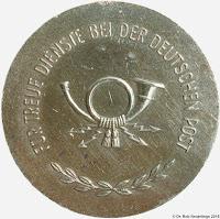 181e Treuedienstmedaille der Deutschen Post in Silber  www.ddrmedailles.nl