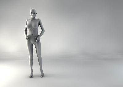 femme 3D pose naturelle SP 12