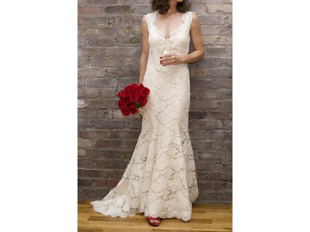 Dilis blog Monique Lhuillier Scarlet Size 4 Used Wedding Dresses