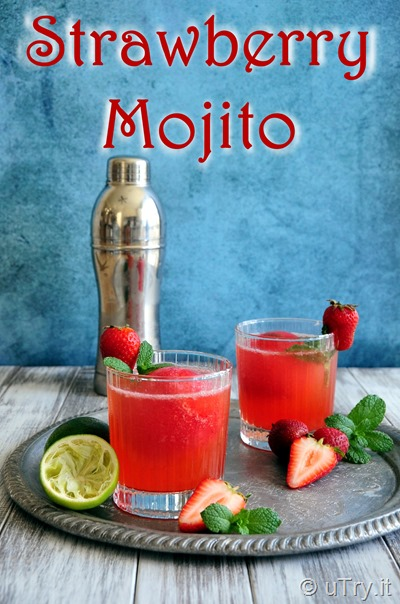 Strawberry Mojito with Giant Strawberry Ice Sphere  http://uTry.it