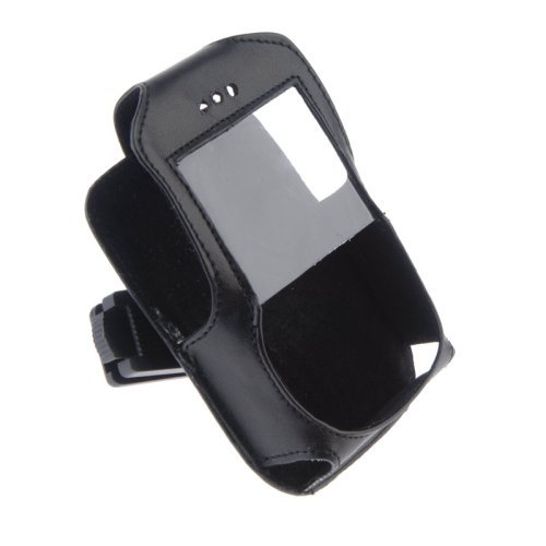 Premium Leather Case with Ratcheting Clip for RIM Blackberry 8700c, 8700g
