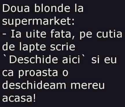 Doua blonde la supermarket
