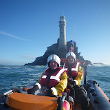 2010 RNLI CEO Paul Boissier at Fastnet Lighthouse