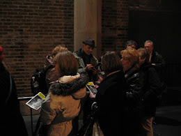 Noah signing autographs after a show.