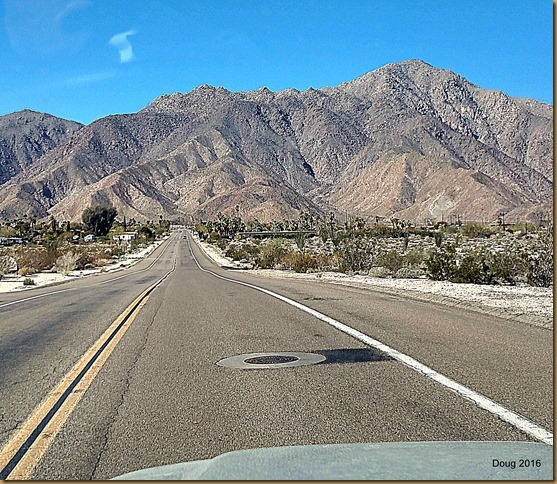 Heading west out of Borrego Springs