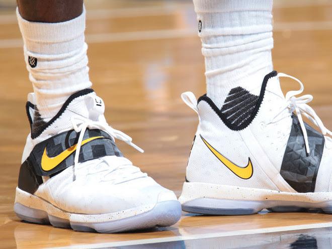 67eeba886fa6b LeBron Sweeps Pacers in Nike LeBron 14 The Land PE ...