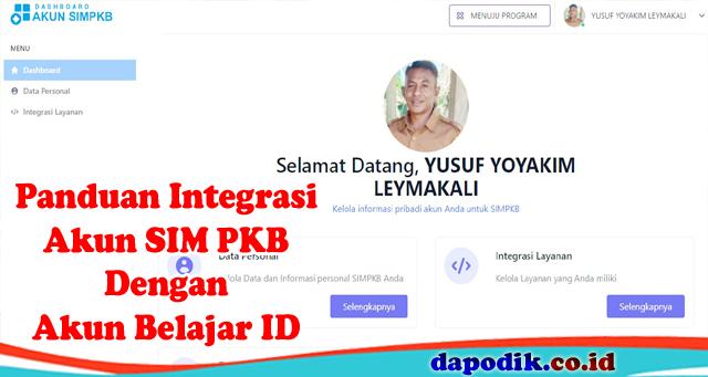 Integrasi Akun SIM PKB Dengan Akun Belajar ID