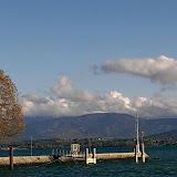 Mouettes et panoramas au bords du lac Léman à Nyon, Vaud, Suisse