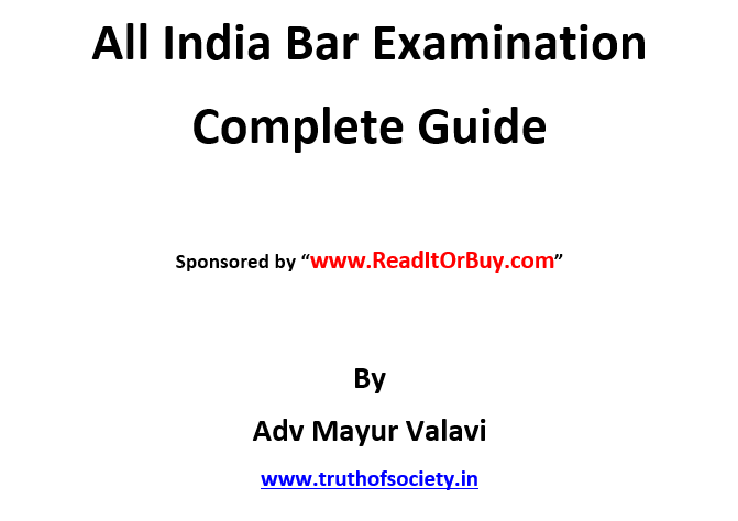 Quick & Complete Guidance of All India Bar Exam (AIBE)