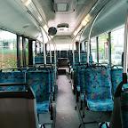 Het interieur van de Neoplan van South West Tours bus 48