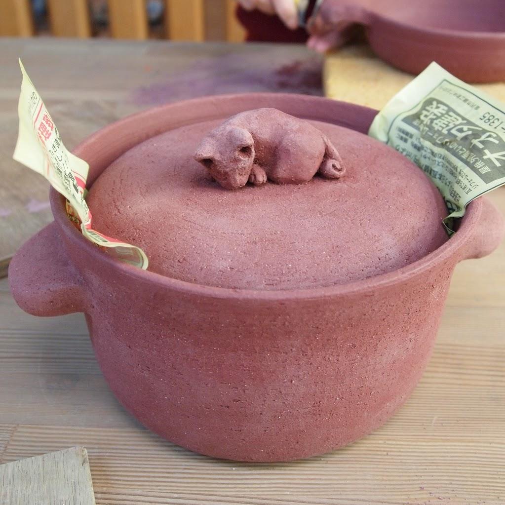 素焼き前の土鍋