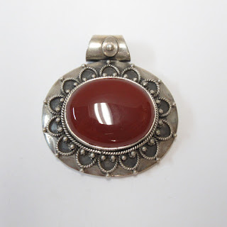 Sterling Silver and Carnelian Pendant