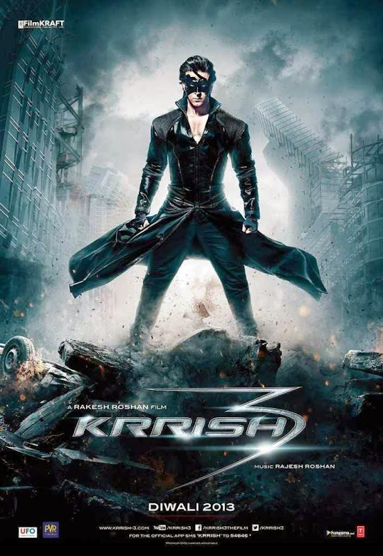 Cover of Krrish 3 (2013) Hindi Movie Mp3 Songs Free Download Listen Online at Alldownloads4u.Com