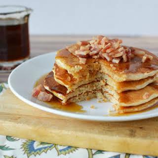 Maple Bacon Whey Protein Pancakes.